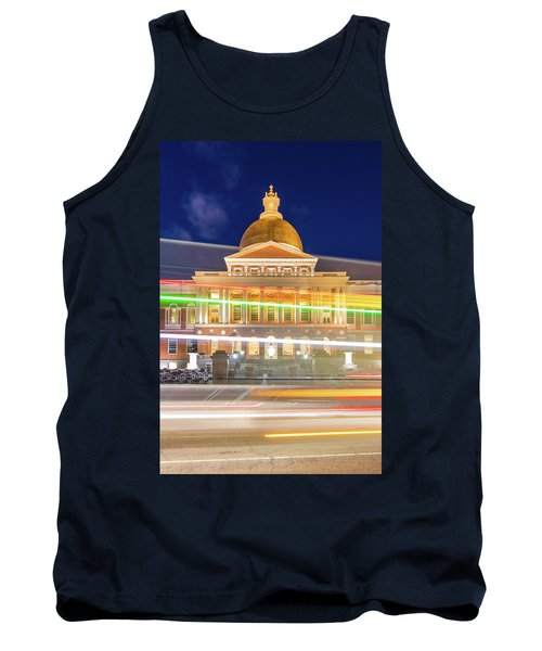 Rush Hour In Front Of The Massachusetts Statehouse Tank Top