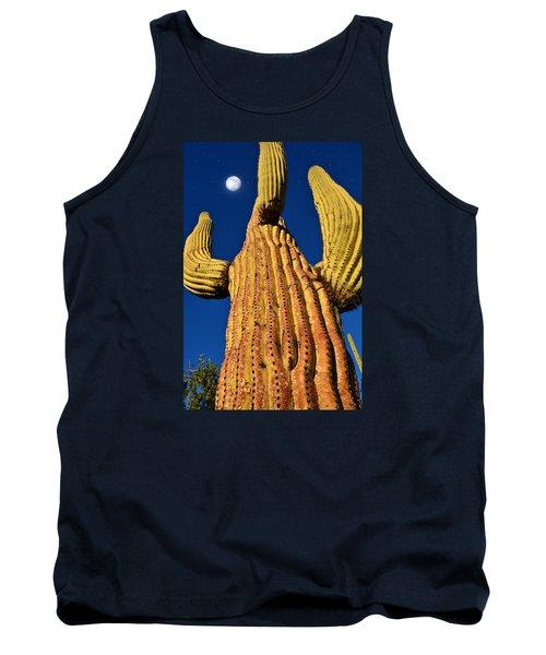 Saguaro Reaching To The Sky Tank Top by John Hoffman