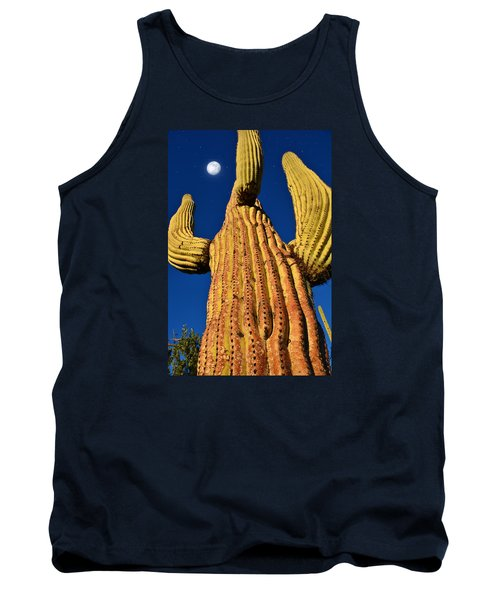 Saguaro Reaching To The Sky Tank Top