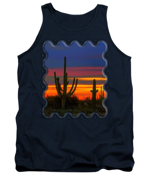 Saguaro Sunset V30 Tank Top by Mark Myhaver