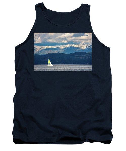 Sailing Flathead Lake Tank Top