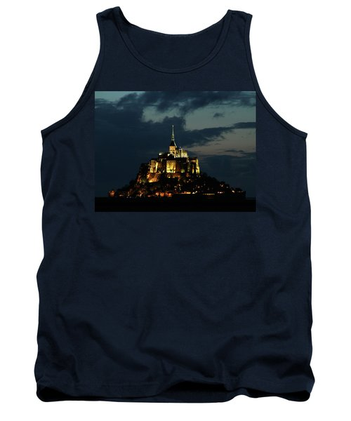 Tank Top featuring the photograph Saint Michel Mount After The Sunset, France by Yoel Koskas
