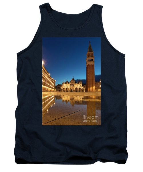 Tank Top featuring the photograph San Marco Twilight by Brian Jannsen