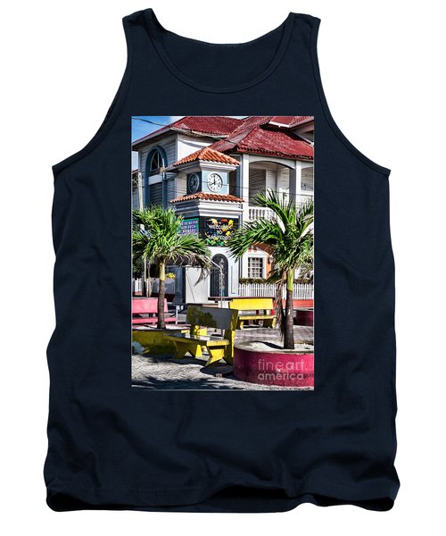 San Pedro Town Plaza Tank Top by Lawrence Burry