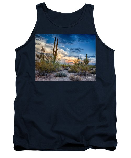 San Tan Mountain Park Sunset Tank Top