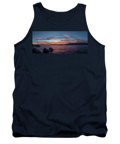 Sand Harbor Sunset Pano2 Tank Top