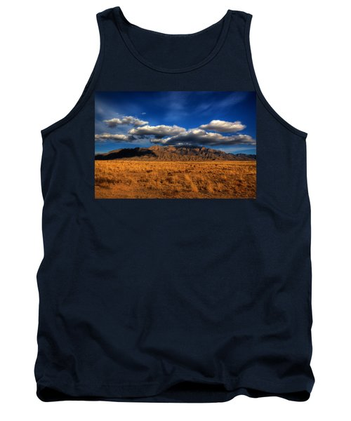 Sandia Crest In Late Afternoon Light Tank Top by Alan Vance Ley