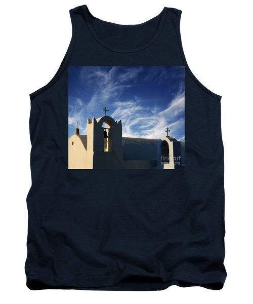 Santorini Greece Architectual Line 3 Tank Top by Bob Christopher