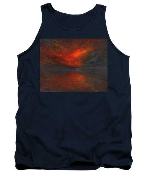 Sapphire Sunset Tank Top by Jane See