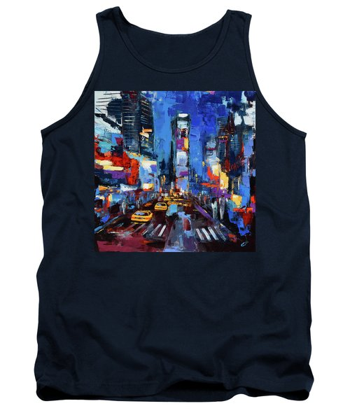 Saturday Night In Times Square Tank Top