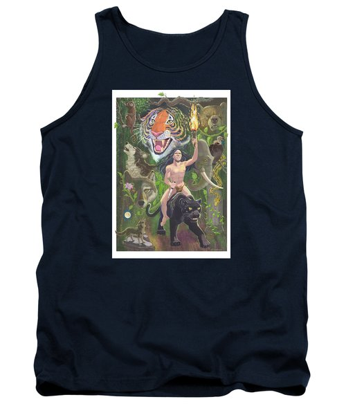 Tank Top featuring the mixed media Savage by J L Meadows