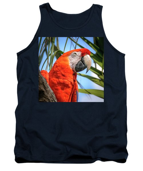 Tank Top featuring the photograph Scarlet Macaw by Steven Sparks