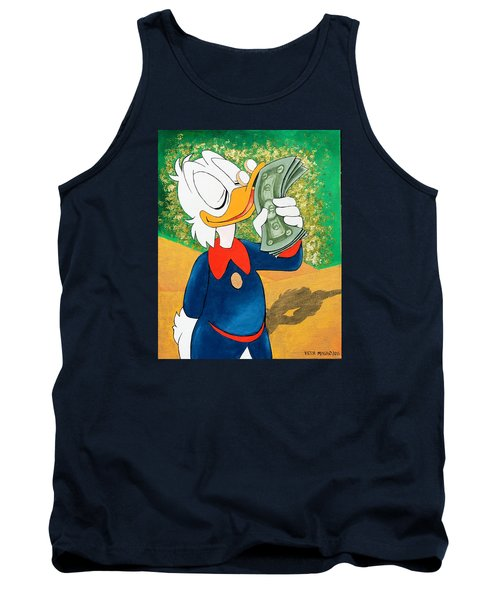 Scrooge Mcduck Kissing Money Tank Top