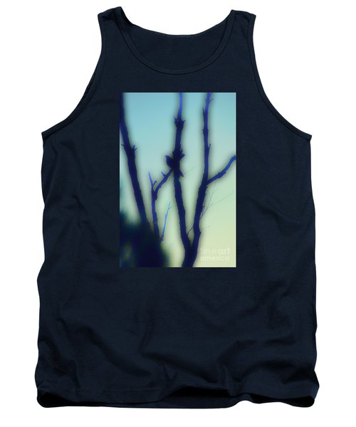 Tank Top featuring the photograph Scrub Silhouette by Cassandra Buckley