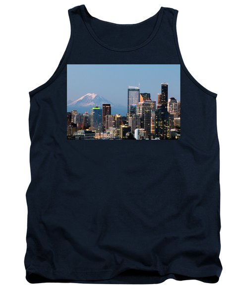 Seattle At First Light I Tank Top by E Faithe Lester
