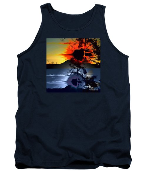 Sechelt Tree Sun And Moon Tank Top by Elaine Hunter