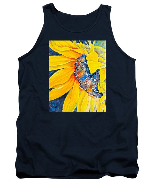Tank Top featuring the painting September Sunflower by Carolyn Rosenberger