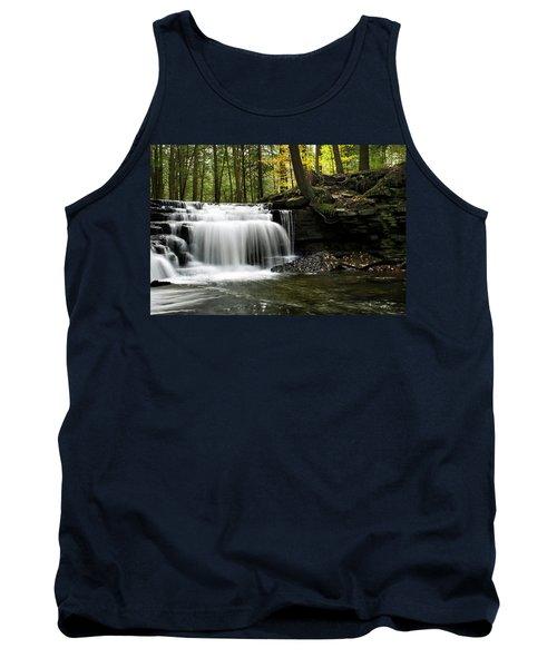 Serenity Waterfalls Landscape Tank Top