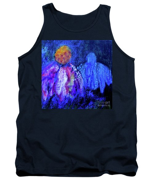 Shadow Abstract Bloom Tank Top