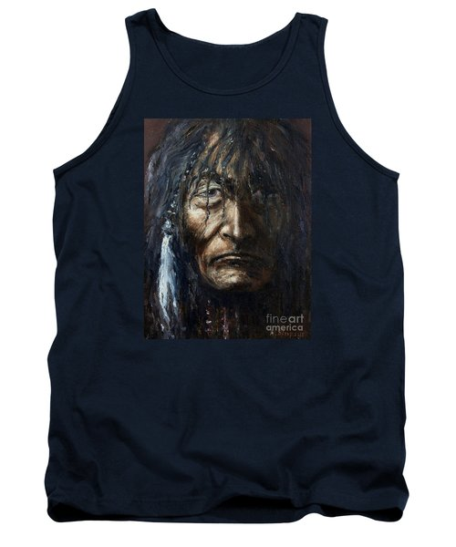 Tank Top featuring the painting Shaman by Arturas Slapsys