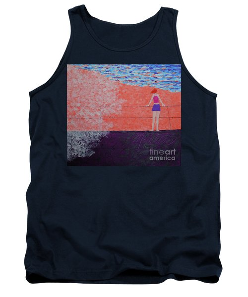 The Beach At Sunset Tank Top
