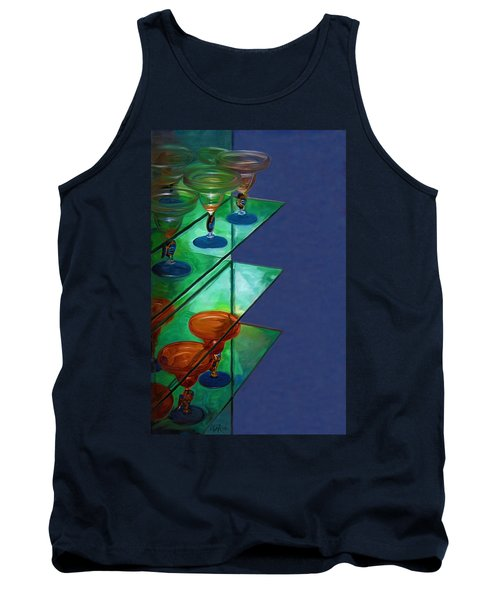 Tank Top featuring the digital art Sheilas Margaritas by Holly Ethan