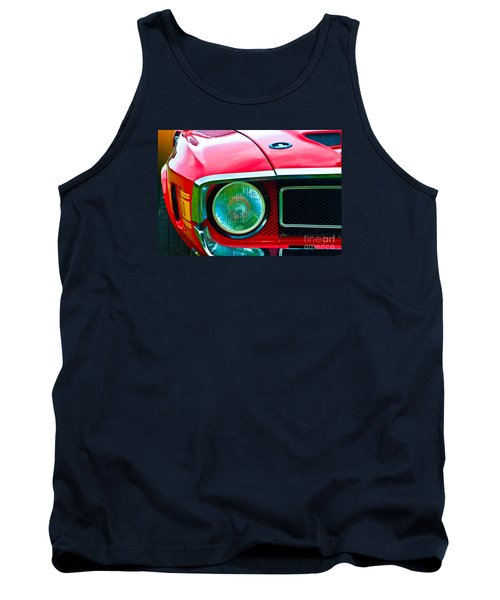 Red Shelby Mustang Tank Top