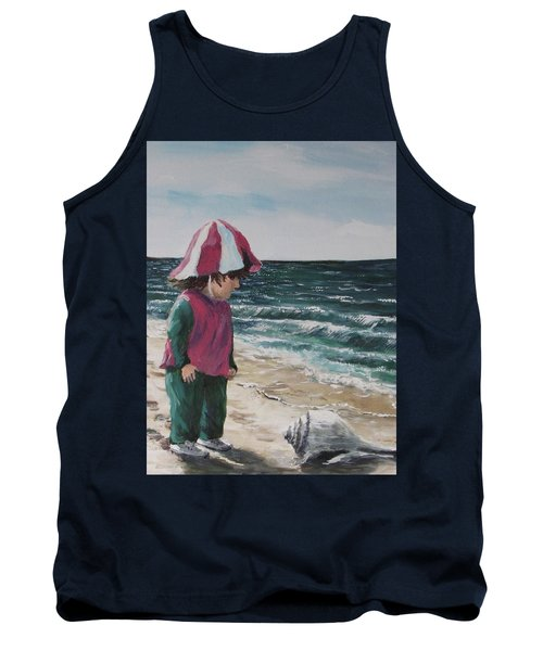 Tank Top featuring the painting Shello by Jack Skinner