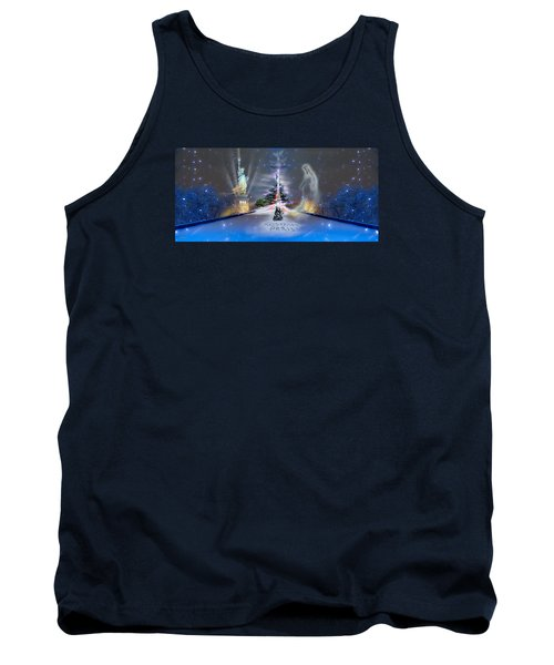 Tank Top featuring the photograph Silent Night  A Kiss From Paris And Back by Glenn Feron