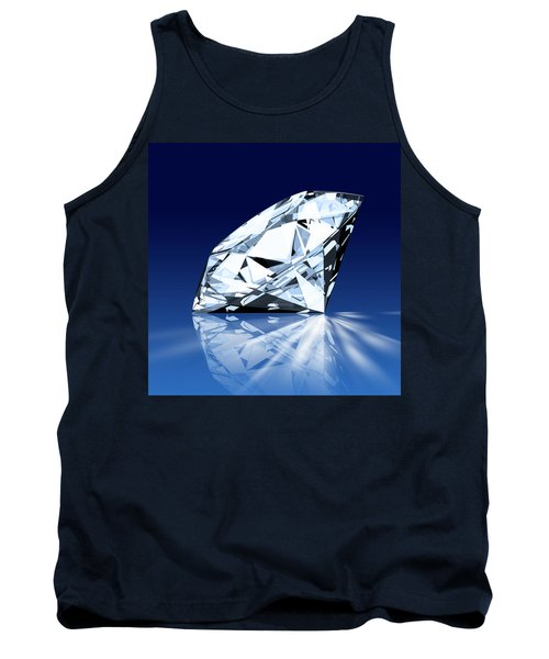 Single Blue Diamond Tank Top