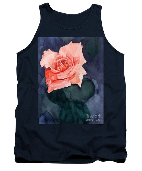 Watercolor Of A Magic Bright Single Red Rose Tank Top