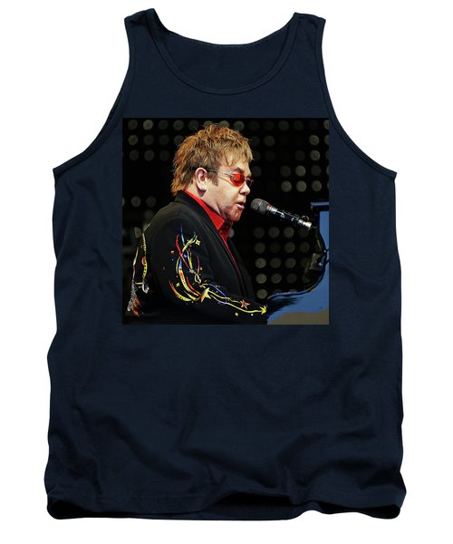 Sir Elton John At The Piano Tank Top