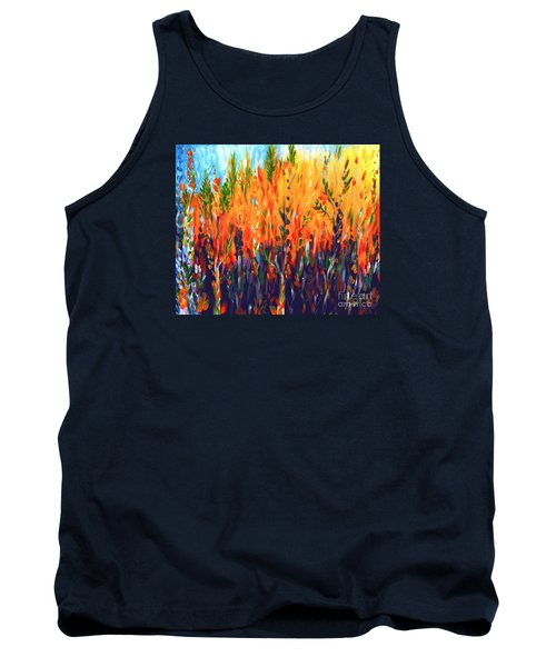 Tank Top featuring the painting Sizzlescape by Holly Carmichael
