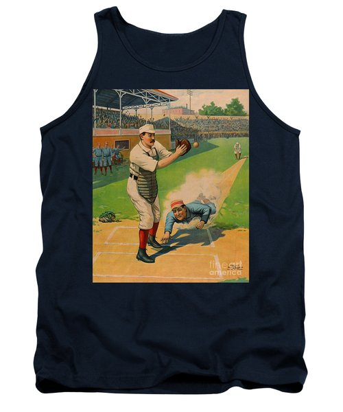Sliding Home 1897 Tank Top by Padre Art