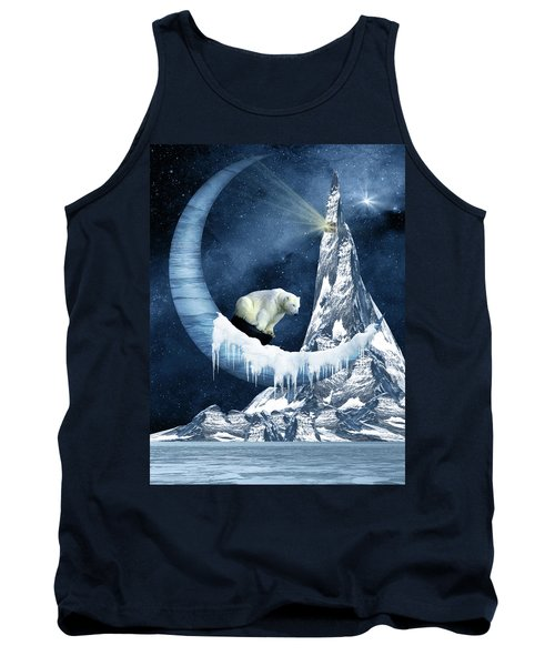 Sliding On The Moon Tank Top by Mihaela Pater