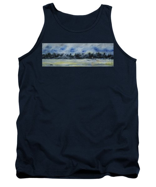 Tank Top featuring the painting Slow Sail Home by Cynthia Lagoudakis