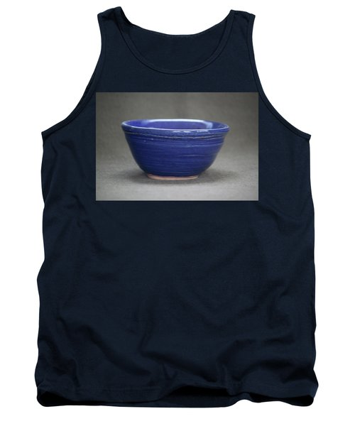 Small Blue Ceramic Bowl Tank Top by Suzanne Gaff