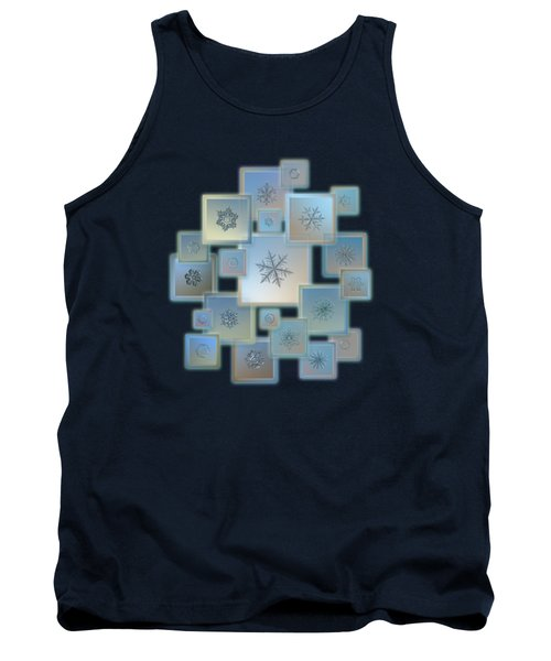 Tank Top featuring the photograph Snowflake Collage - Bright Crystals 2012-2014 by Alexey Kljatov