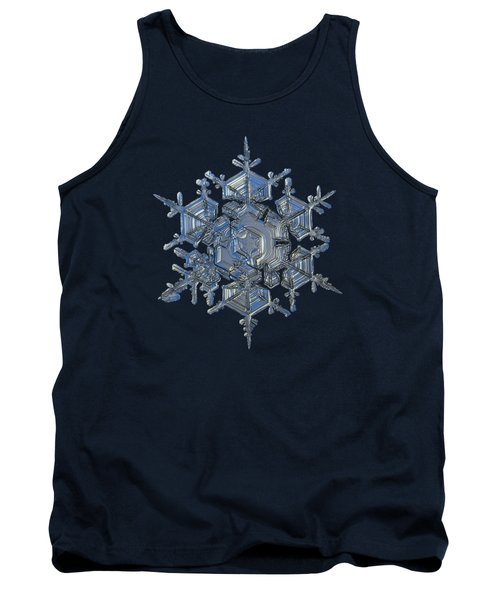 Snowflake Photo - Crystal Of Chaos And Order Tank Top by Alexey Kljatov