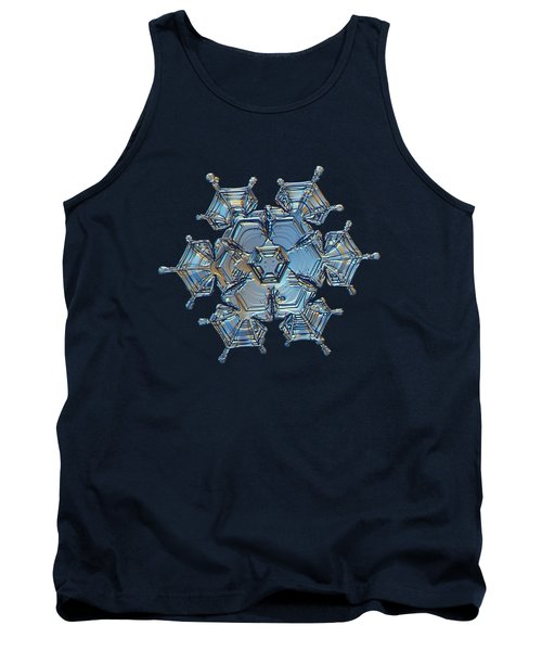 Snowflake Photo - Flying Castle Tank Top by Alexey Kljatov