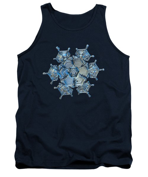 Snowflake Photo - Flying Castle Alternate Tank Top by Alexey Kljatov