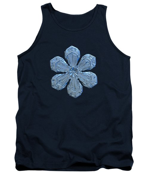 Tank Top featuring the photograph Snowflake Photo - Forget-me-not by Alexey Kljatov