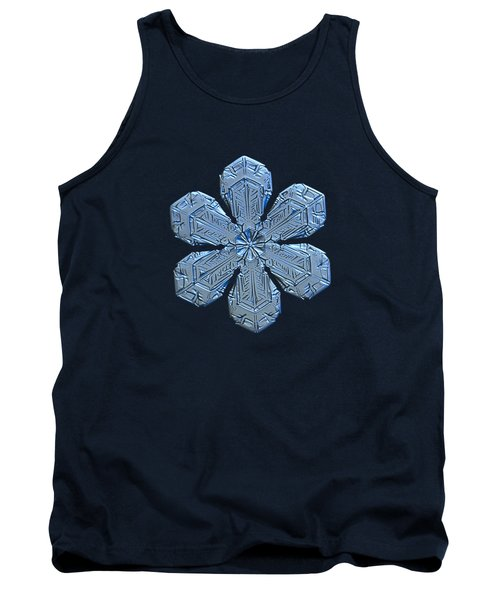 Snowflake Photo - Forget-me-not Tank Top
