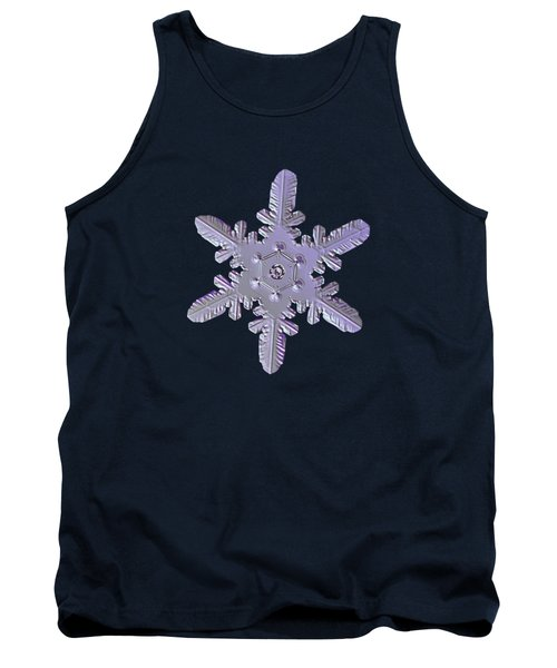 Tank Top featuring the photograph Snowflake Photo - Heart-powered Star by Alexey Kljatov