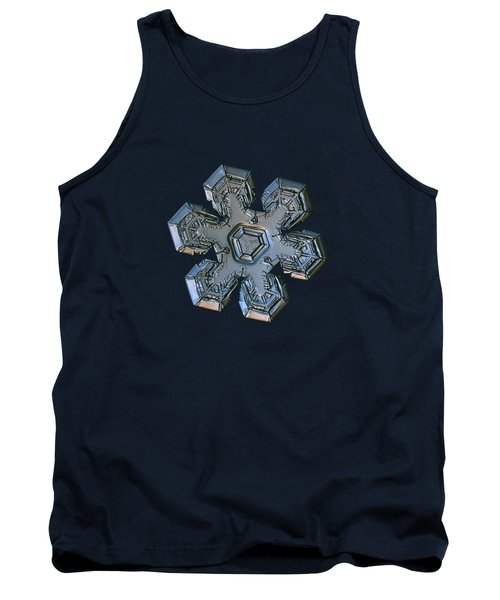 Tank Top featuring the photograph Snowflake Photo - Massive Silver by Alexey Kljatov