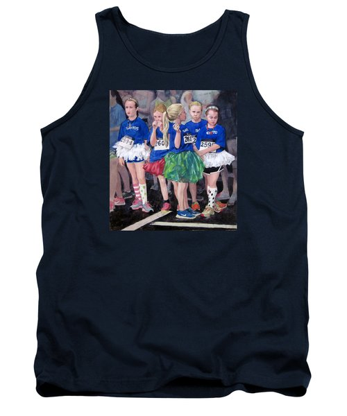 Soccer Girls Tank Top by Mark Lunde