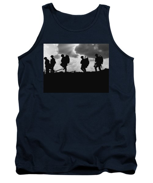 Soldier Silhouettes - Battle Of Broodseinde  Tank Top