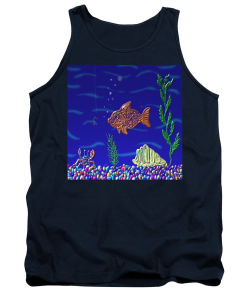 Something Fishy Tank Top by Kevin Caudill