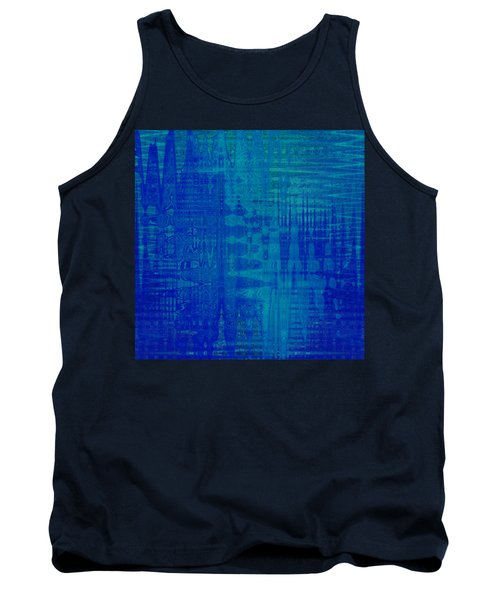 Sounds Of Blue Tank Top by Stephanie Grant