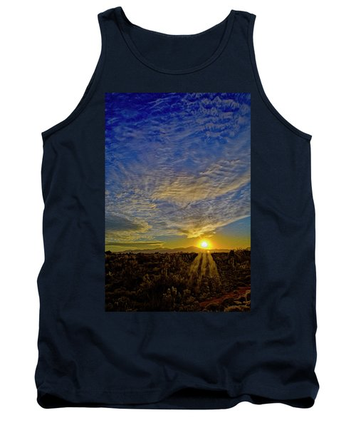 Tank Top featuring the digital art Southwest Sunset Op40 by Mark Myhaver